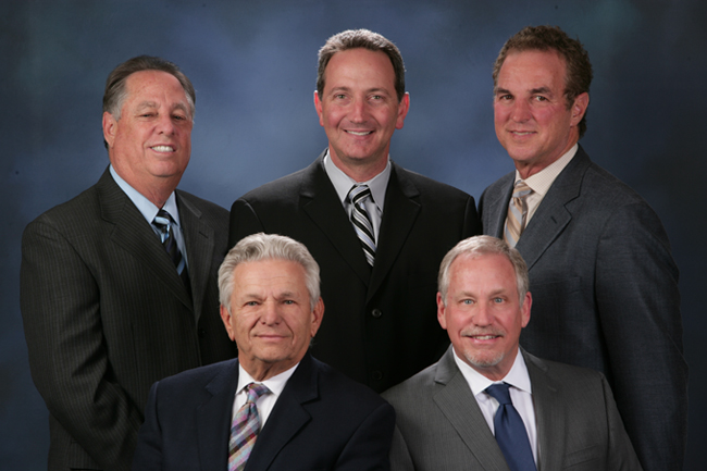 Arnie Abramson, Matthew Blumkin, Richard Tanitsky, Bill Rake, and Robb Greenspan