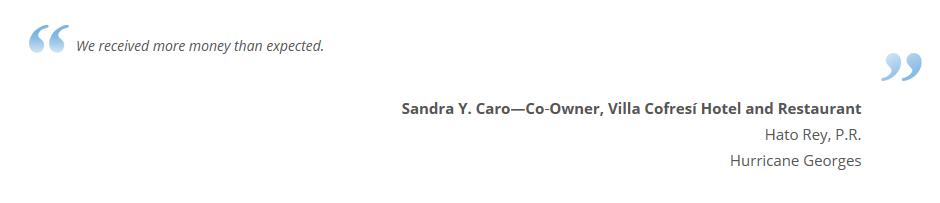 Sandra Caro Client Testimonial